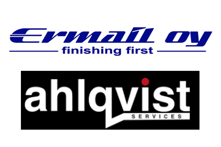 Linkityn teknologiateollisuuden asiakkat: Ermail Oy ja Ahlqvist logot
