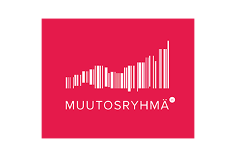 Asiakas: Muutosryhmä oy, punavalkoinen logo