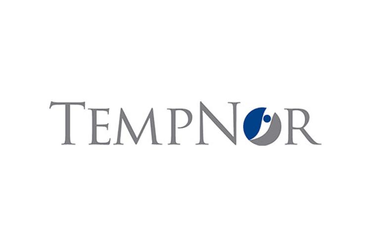 Asiakas: Tempnor logo, harmaa ja sininen