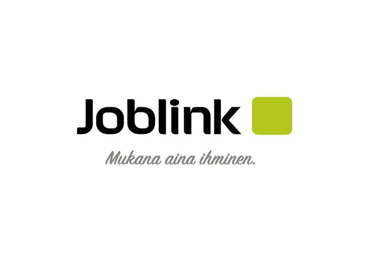 Asiakas: Joblink logo, mustavihreä valkoisella taustalla